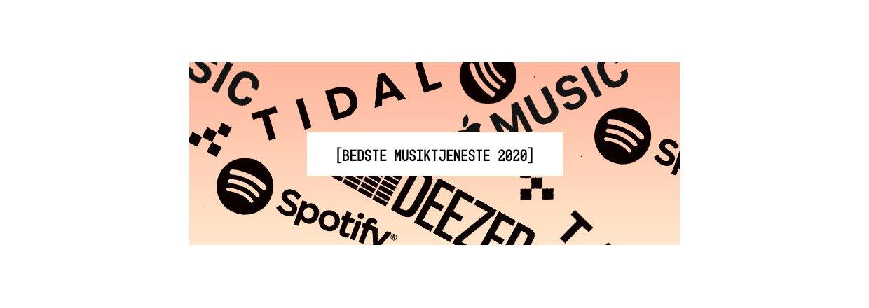 Bedste Musiktjeneste 2020 - Vores bud