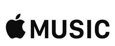 Apple Music logo i sort og hvid