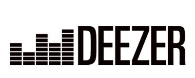 Deezer logo i sort og hvid