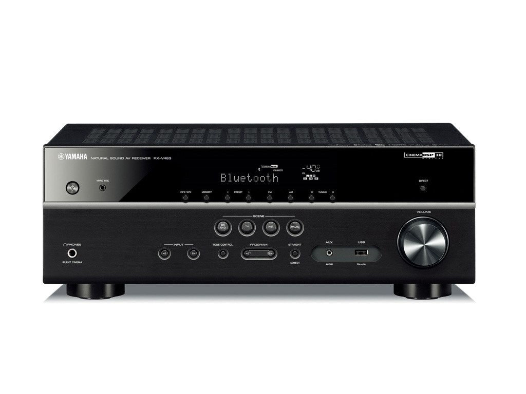 yamaha rx v483 av receiver med 4k og netv rk. Black Bedroom Furniture Sets. Home Design Ideas